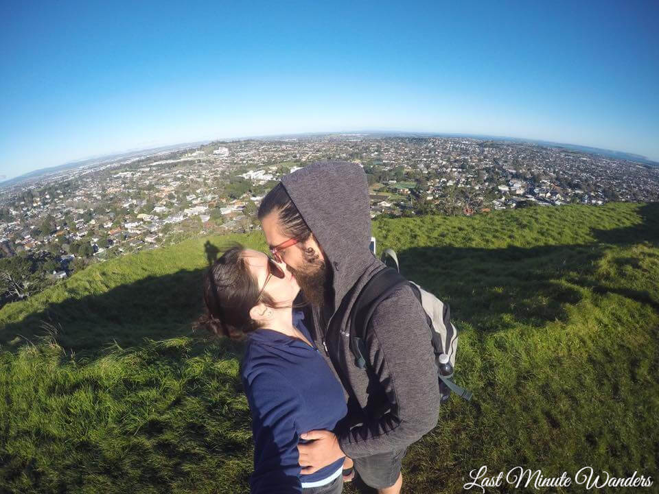 Couple on hilltop