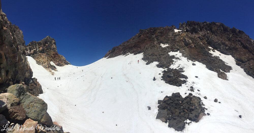 Snowy mountain summit