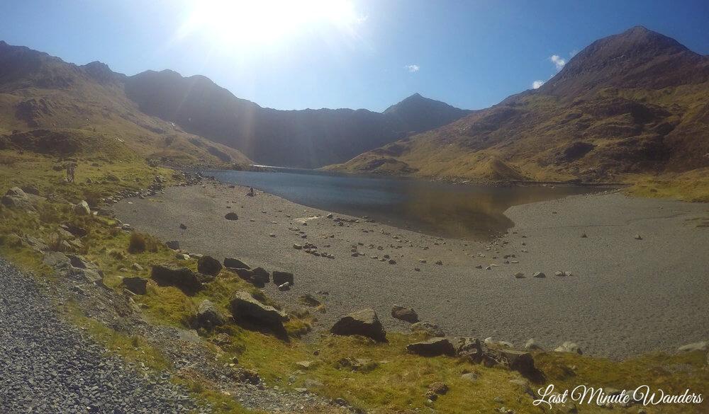 Mountain lake track