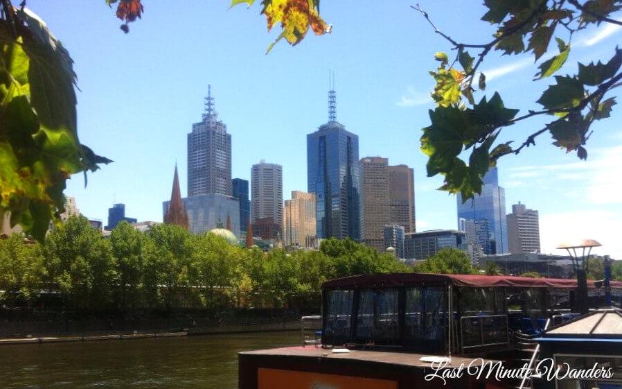 Tall buildings across river