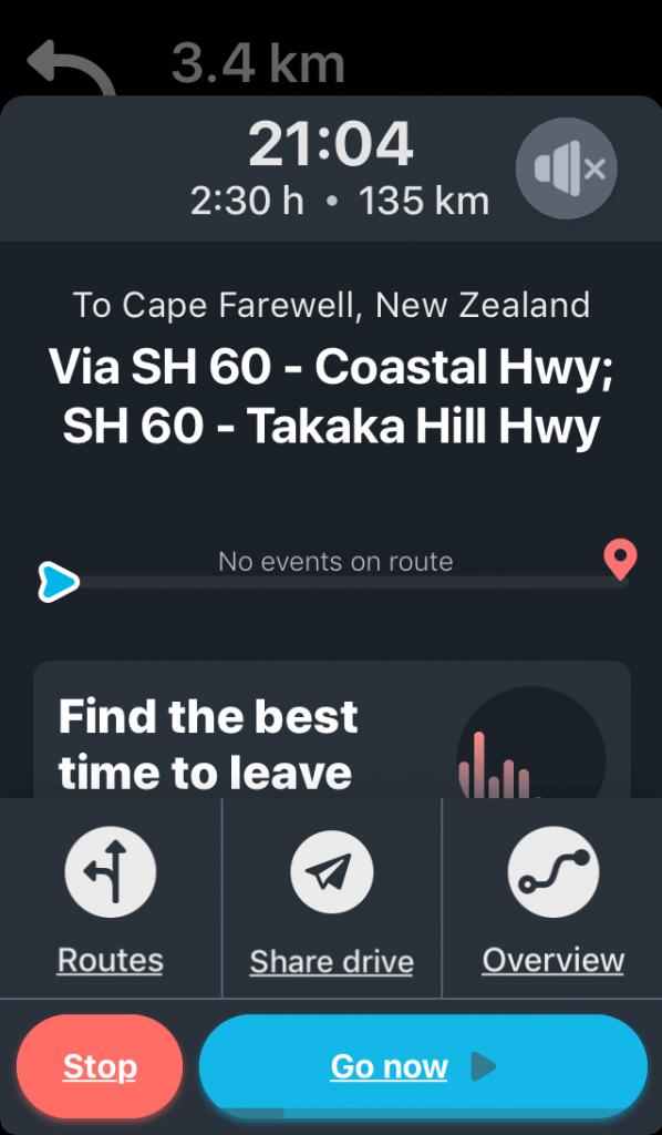 Waze app screenshot