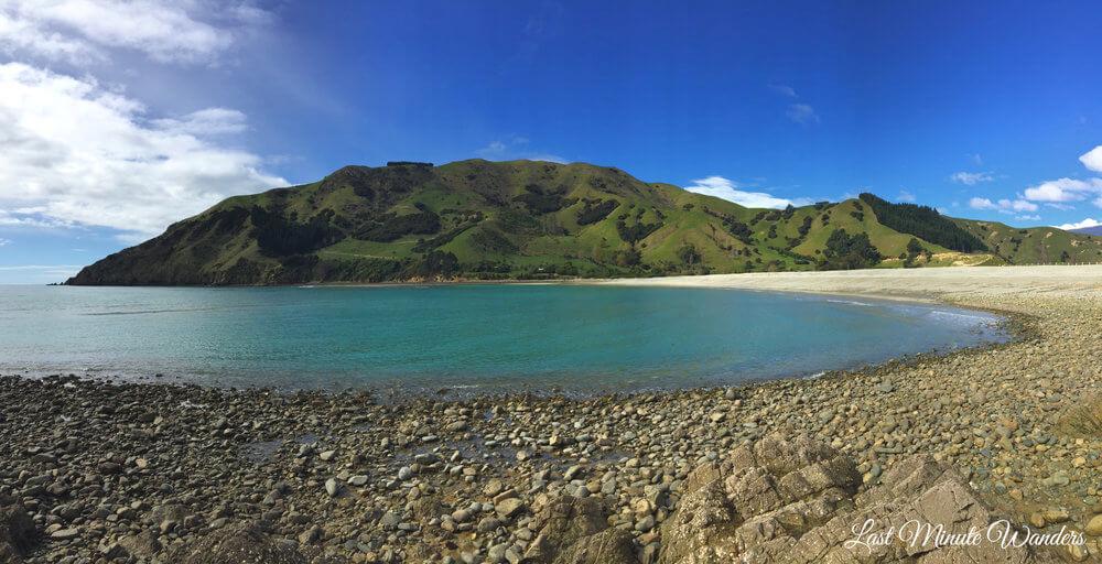 Bay, beach and island
