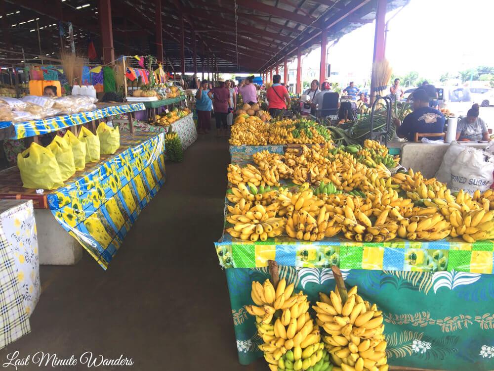 Bananas at food market