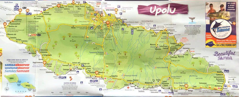 Map of Upolu island