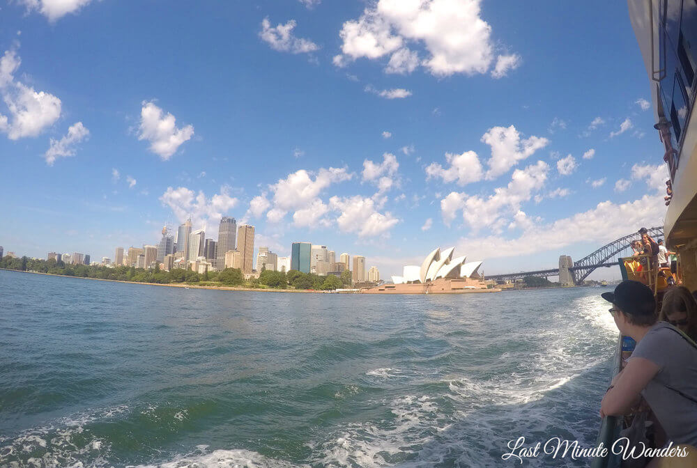 View of Sydney from boat
