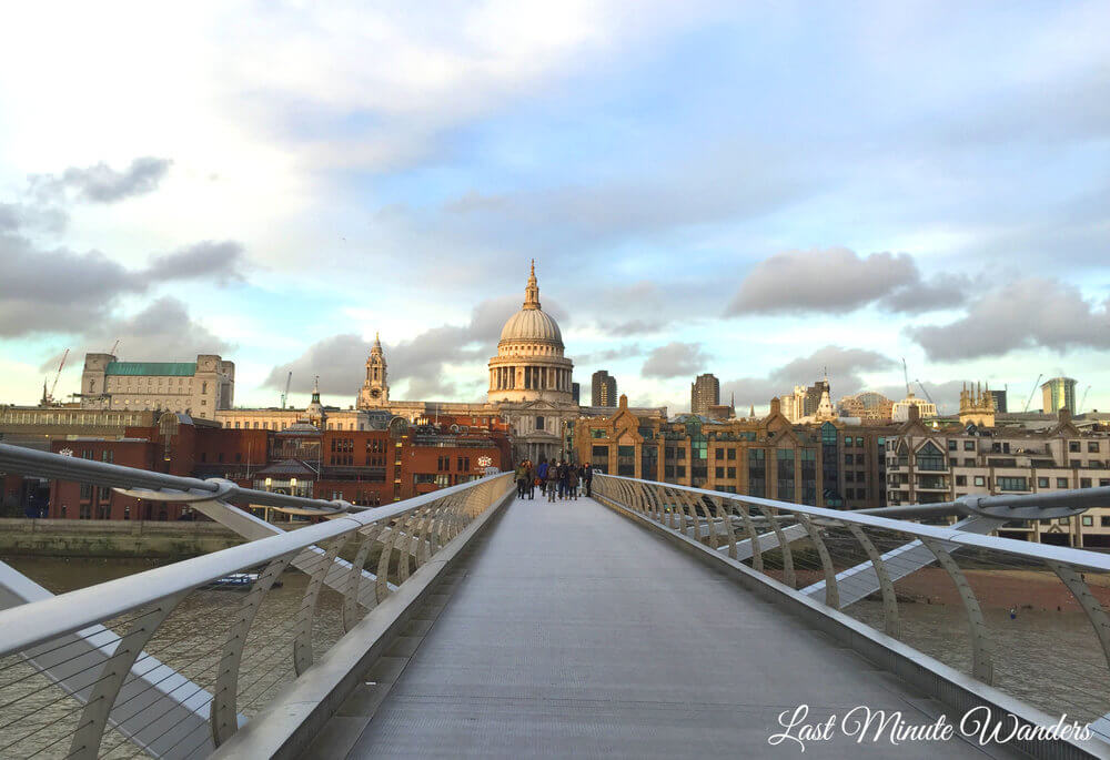 Bridge to St Paul's Cathedral in London