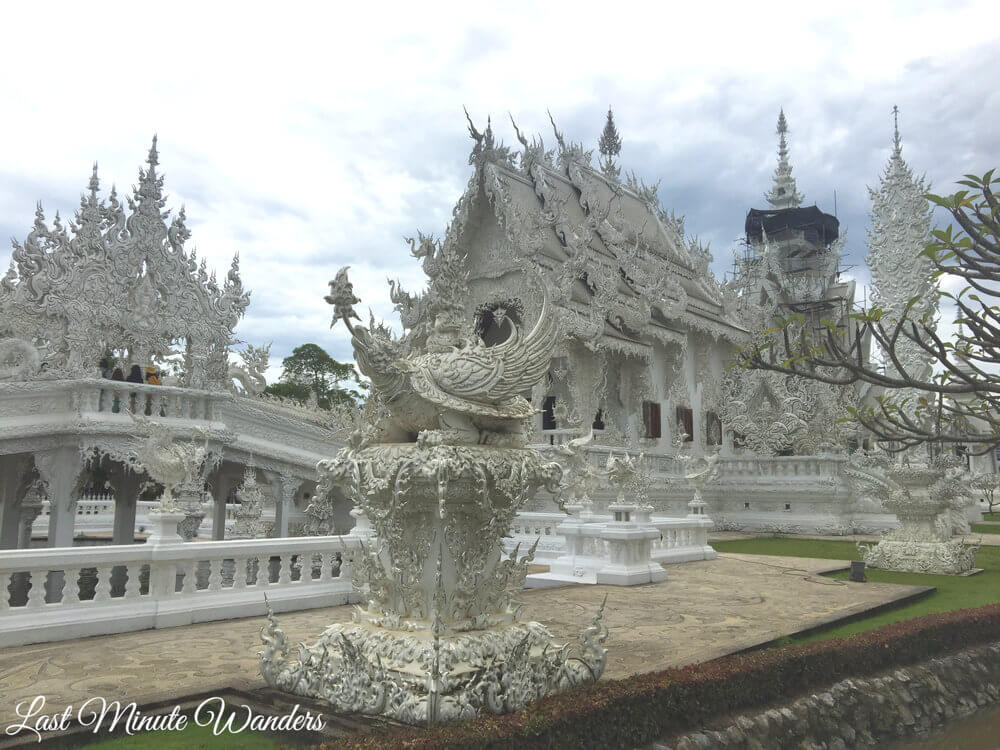 Decorated White Thai temple