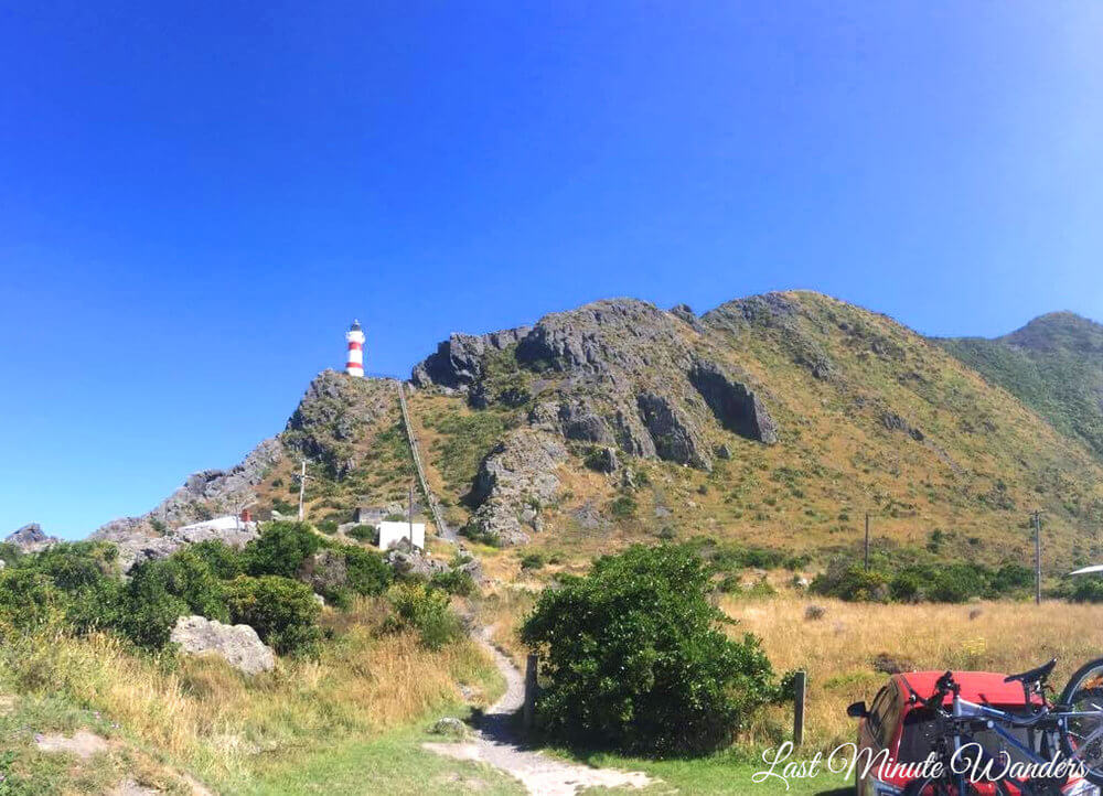 Lighthouse on hilltop