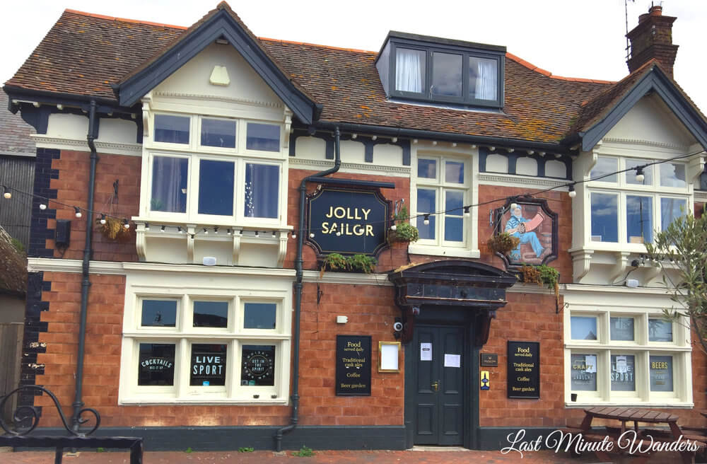 Front of pub called Jolly Sailor